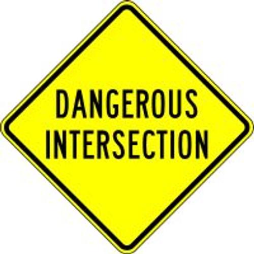 Dangerous Intersection Sign