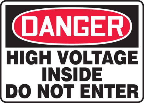 Danger - High Voltage Inside Do Not Enter