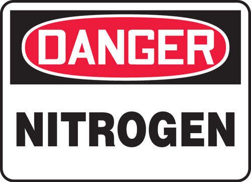 Danger - Nitrogen - Dura-Fiberglass - 14'' X 20''
