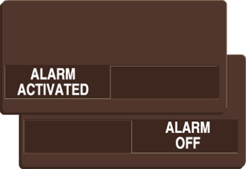 Alarm Activated- Alarm Off Slide Sign