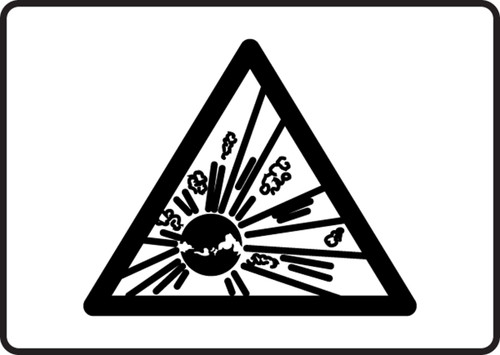 Explosvie Graphic - Adhesive Vinyl - 7'' X 10''