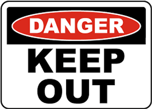 Danger - Keep Out - Adhesive Vinyl - 10'' X 14'' 1