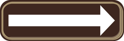 Arrow Sign- white/brown
