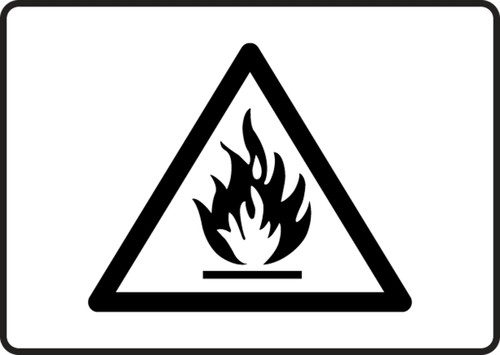 mchl503xl flammable graphic sign