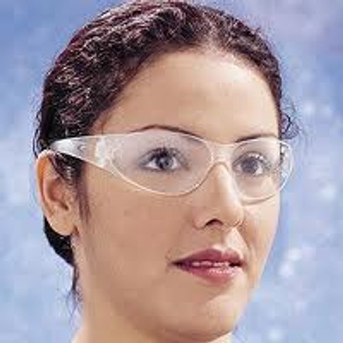 Crews Checklite Safety Glasses Clear Frame, Clear Lens (12 Pair)