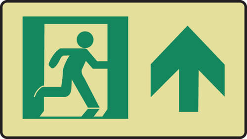 Graphic With Arrow Up Sign- Glow Sign