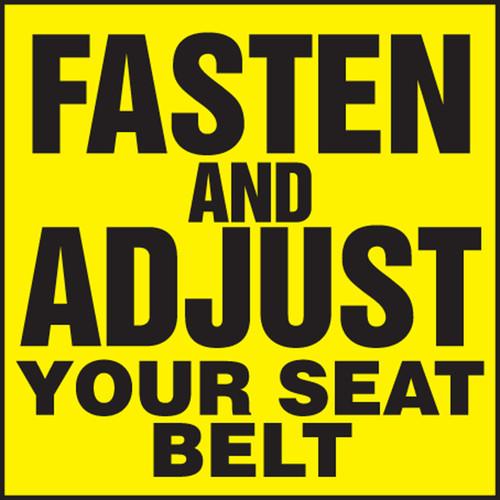 Fasten And Adjust Your Seat Belt Label