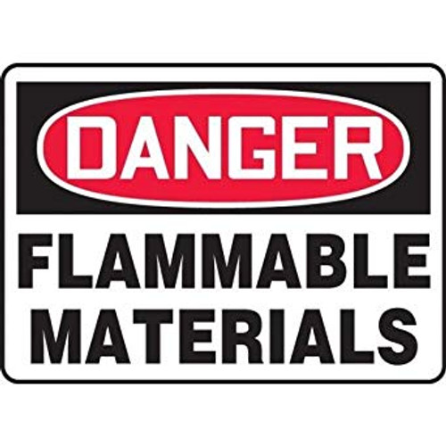 Danger - Flammable Materials - Accu-Shield - 10'' X 14''