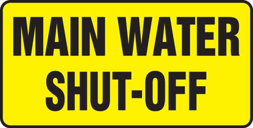 Main Water Shut Off - Adhesive Vinyl - 7'' X 14''