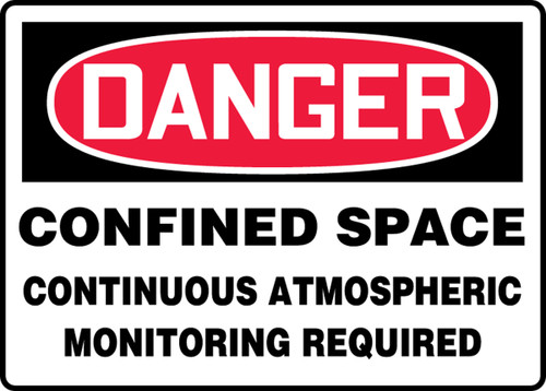 Danger - Confined Space Continuous Atmospheric Monitoring Required