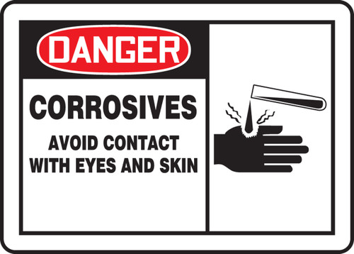 Danger - Corrosives Avoid Contact With Eyes And Skin