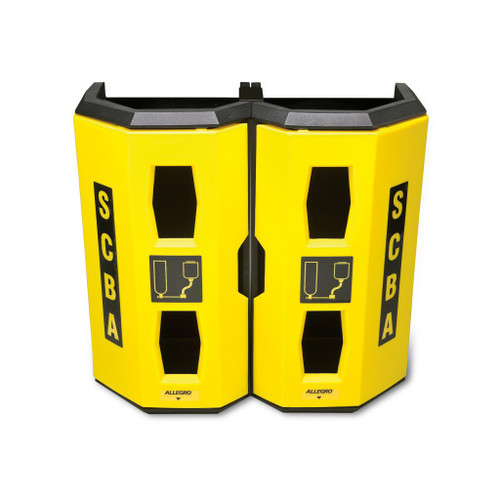 Allegro 4325 High Viz Heavy Duty Dual SCBA Wall Case, Yellow