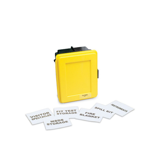Allegro 4500-Y Generic Yellow Wall Case with Label Kit and 1 Shelf