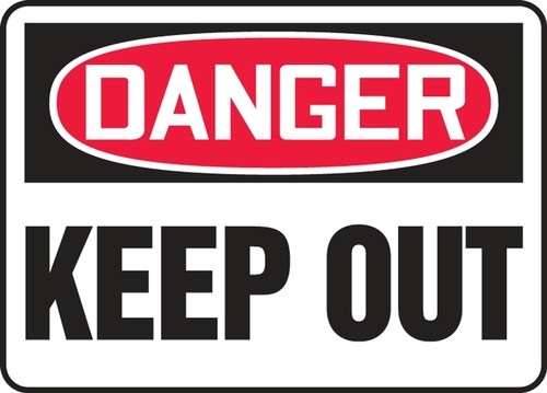 Danger - Keep Out - Adhesive Vinyl - 14'' X 20'' 1