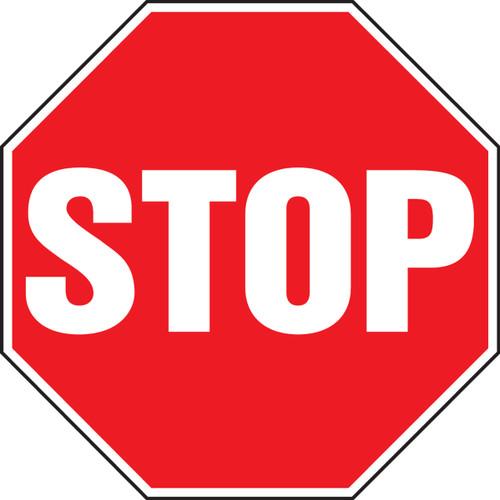 Stop - Plastic - 12'' X 12''