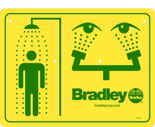 Bradley 114-052 Emergency Shower Sign
