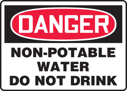 Danger - Non-Potable Water Do Not Drink - Dura-Plastic - 14'' X 20''