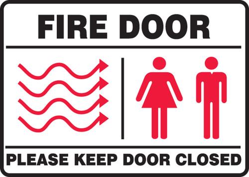 fire door please keep door closed sign MEXT447XF