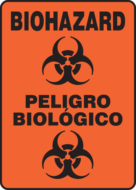 Bilingual Spanish Biohazard Sign