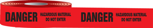Danger Hazardous Material Do Not Enter Barricade Tape