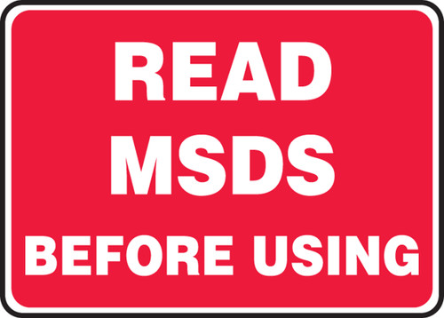 Read Msds Before Using