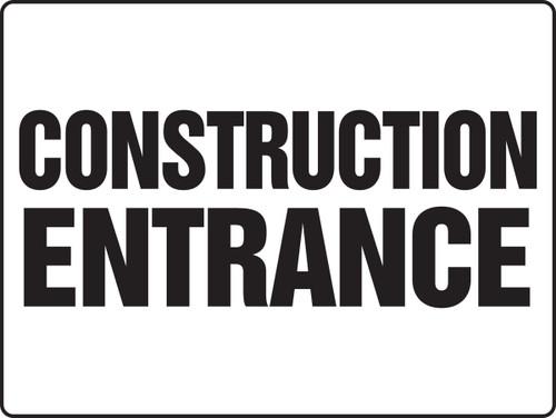 MADM500 Construction Entrance Sign Big Safety Sign