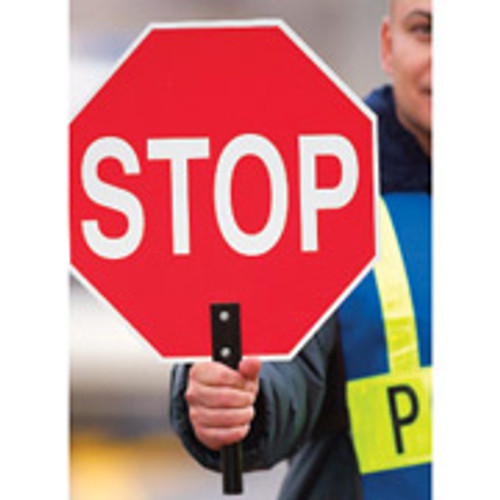 Stop- Stop Paddle Sign with Aluminum Handle