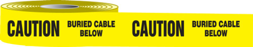 Caution Buried Cable Below Barricade Tape