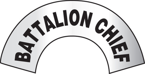 Battalion Chief Emergency Response Helmet Sticker