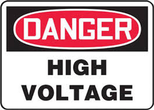 Danger - High Voltage - Adhesive Vinyl - 10'' X 14''