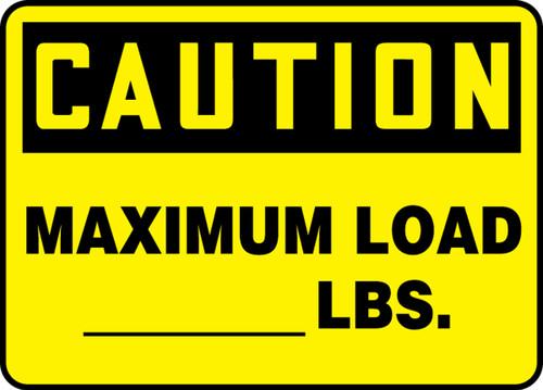 Caution - Maximum Load___ Lbs.