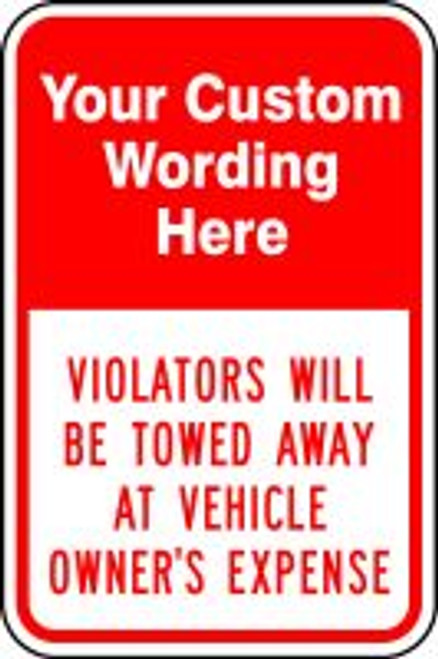 ___ Violators Will Be Towed Away At Vehicle Owner''s Expense