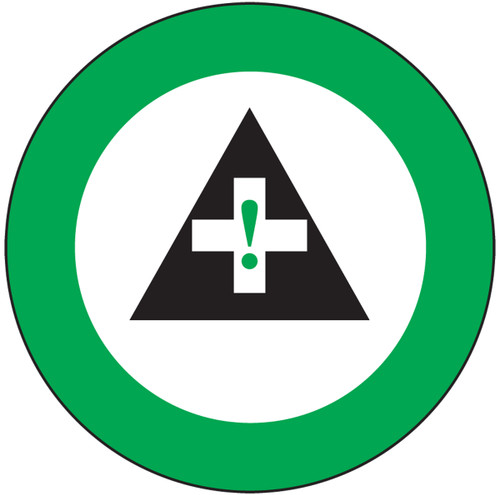 """First Aid Graphic Label For Hard Hat- 2 1/4""""- 10/pkg"""