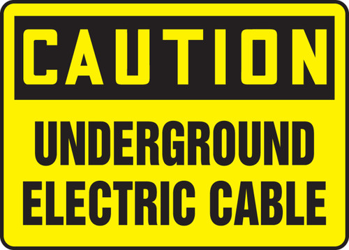 Caution - Underground Electric Cable