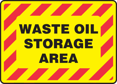 Waste Oil Storage Area Sign -Yellow