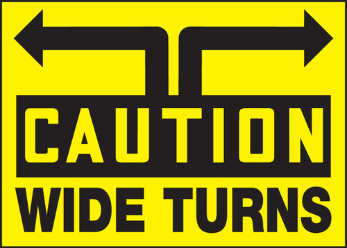 Wide Turns Sign