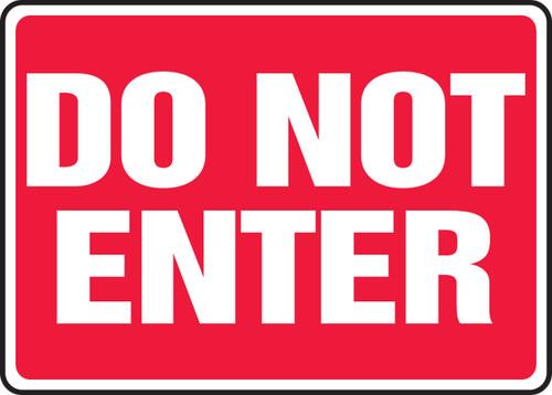 Do Not Enter - Plastic - 10'' X 14''