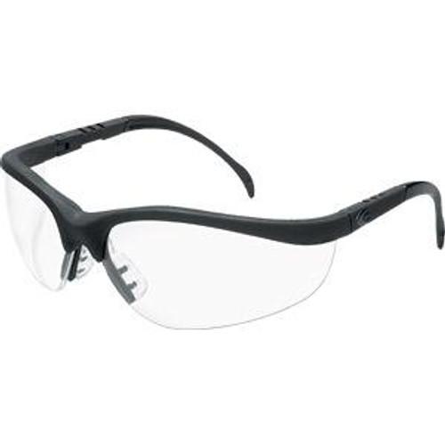 Safety Glasses- Klondike Black Frame-Clear Lens Dozen
