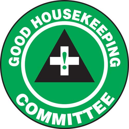 Good Housekeeping Committee Hard Hat Label