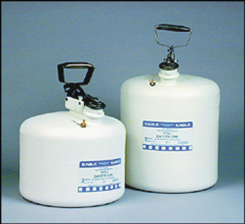 Eagle Type I Poly Safety Can WHITE 3 Gallon