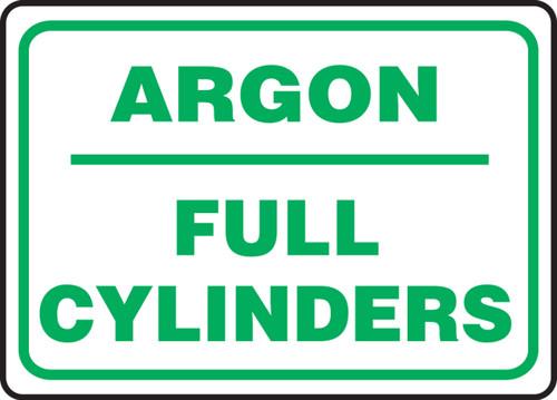 Argon Full Cylinders - Plastic - 10'' X 14''