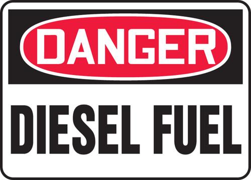 Danger - Diesel Fuel - Adhesive Vinyl - 14'' X 20''