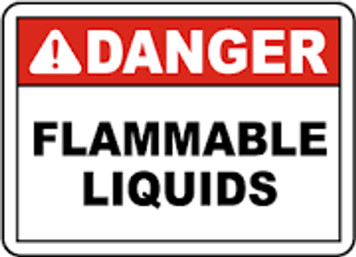 Danger - Flammable Liquids - Adhesive Dura-Vinyl - 10'' X 14''