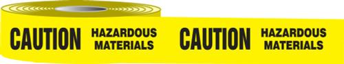 Caution Hazardous Materials Barricade Tape