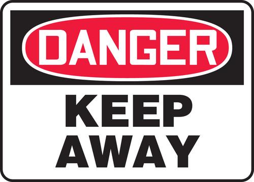 Danger - Keep Away - Re-Plastic - 14'' X 20''