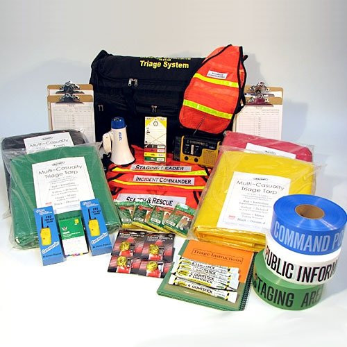 Incident Command and Triage Kit on Wheels (37 Piece)