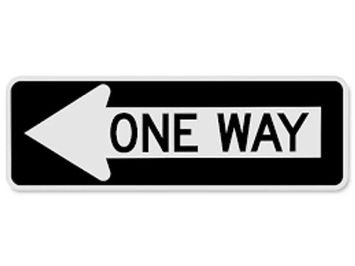One Way Sign (arrow Left)