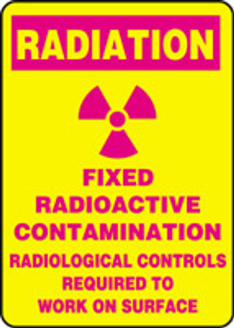 Fixed Radioactive Contamination Radiological Controls Required To Work On Surface (w/graphic)