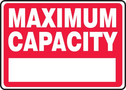 Maximum Capacity ____