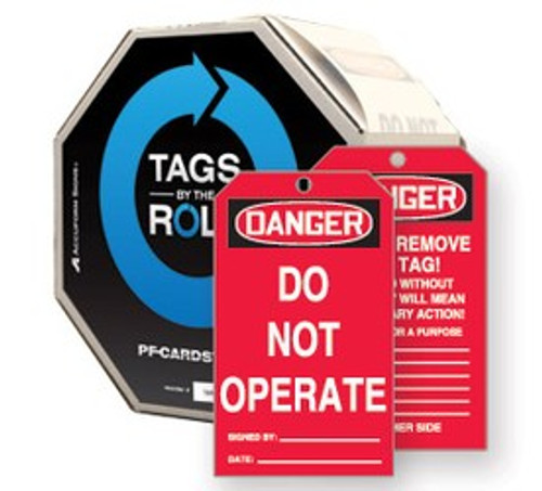 Danger Do Not Operate Safety Tag- Tags by the roll